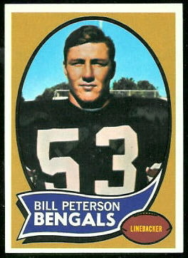 Bill Peterson 1970 Topps football card