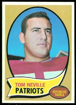 Tom Neville 1970 Topps football card