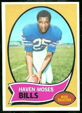 Haven Moses 1970 Topps football card