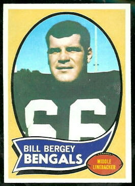 Bill Bergey 1970 Topps football card