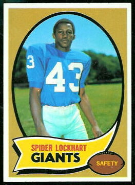 Spider Lockhart 1970 Topps football card