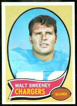 Walt Sweeney 1970 Topps football card