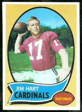 Jim Hart 1970 Topps football card