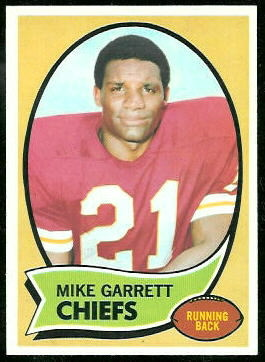 Mike Garrett 1970 Topps football card