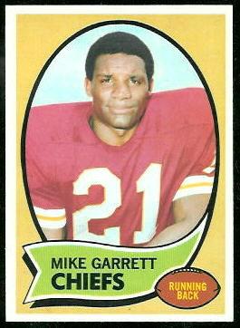 Mike Garrett 1970 Topps football card