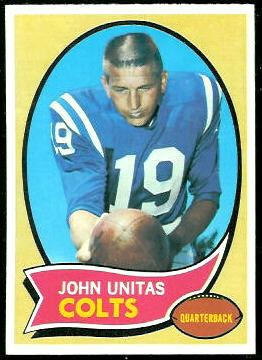 John Unitas 1970 Topps football card