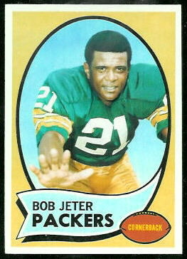 Bob Jeter 1970 Topps football card