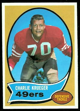 Charlie Krueger 1970 Topps football card