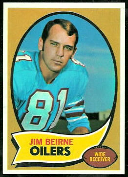 Jim Beirne 1970 Topps football card