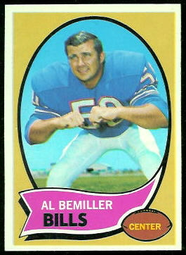 Al Bemiller 1970 Topps football card