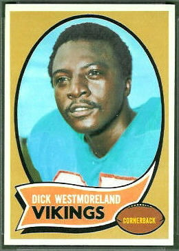 Dick Westmoreland 1970 Topps football card