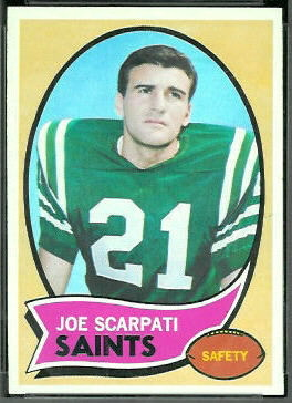 Joe Scarpati 1970 Topps football card