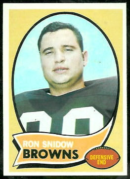 Ron Snidow 1970 Topps football card