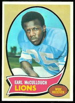 Earl McCullouch 1970 Topps football card