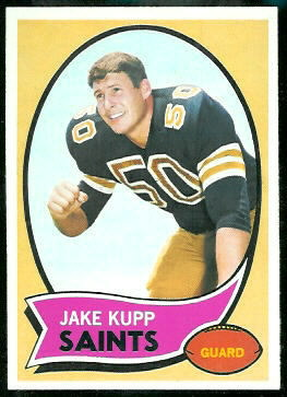 Jake Kupp 1970 Topps football card