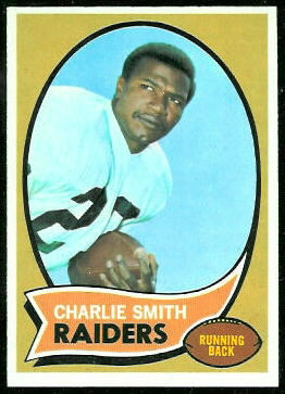 Charlie Smith 1970 Topps football card