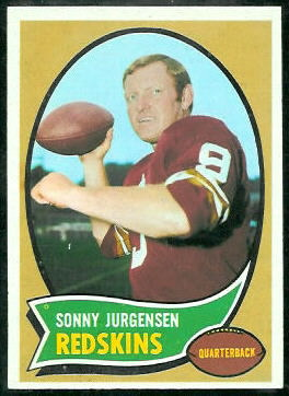Sonny Jurgensen 1970 Topps football card