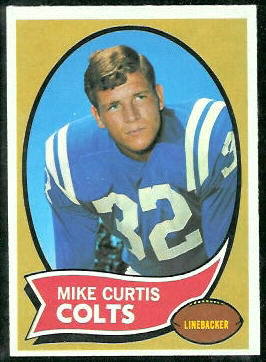 Mike Curtis 1970 Topps football card