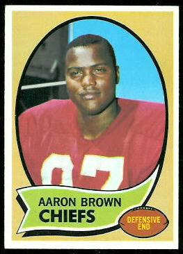 Aaron Brown 1970 Topps football card