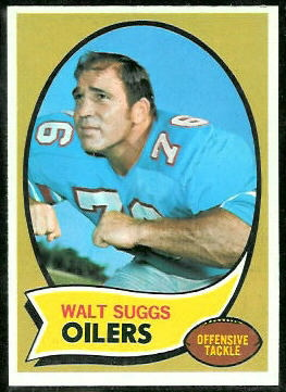 Walt Suggs 1970 Topps football card