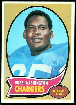 Russ Washington 1970 Topps football card