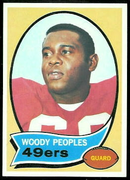 Woody Peoples 1970 Topps football card