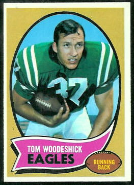 Tom Woodeshick 1970 Topps football card