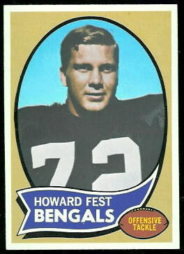 Howard Fest 1970 Topps football card