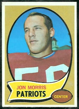 Jon Morris 1970 Topps football card