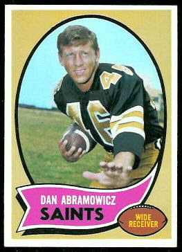 Dan Abramowicz 1970 Topps football card