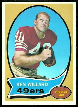 Ken Willard 1970 Topps football card