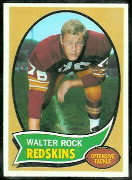 Walter Rock 1970 Topps football card