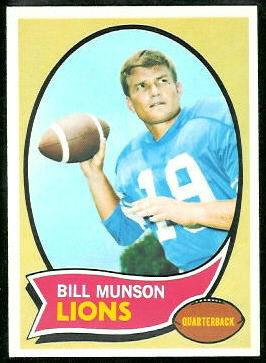 Bill Munson 1970 Topps football card