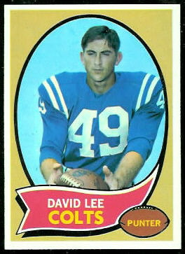 David Lee 1970 Topps football card