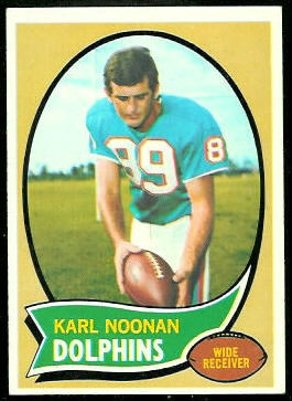 Karl Noonan 1970 Topps football card