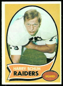 Harry Schuh 1970 Topps football card