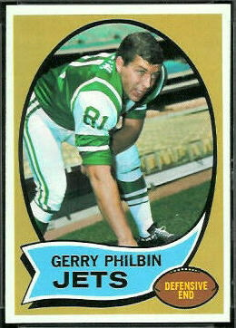 Gerry Philbin 1970 Topps football card