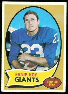 Ernie Koy 1970 Topps football card