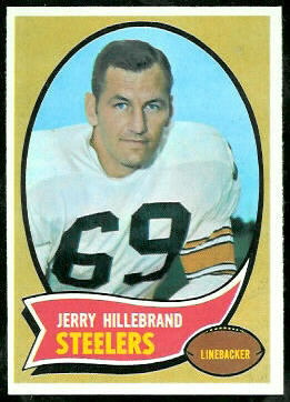 Jerry Hillebrand 1970 Topps football card