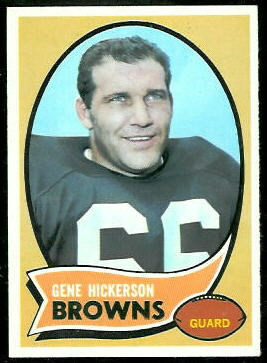 Gene Hickerson 1970 Topps football card