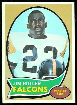 Jim Butler 1970 Topps football card