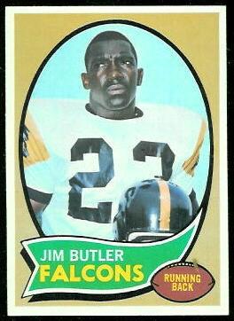 Jim Butler 1970 Topps football card