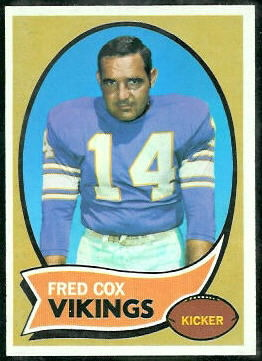 Fred Cox 1970 Topps football card
