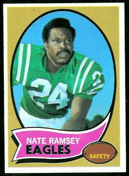 Nate Ramsey 1970 Topps football card