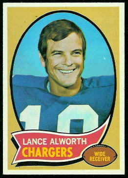 Lance Alworth 1970 Topps football card