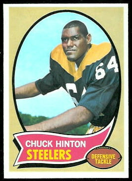 Chuck Hinton 1970 Topps football card