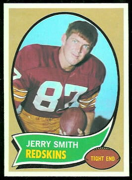 Jerry Smith 1970 Topps football card