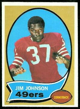 Jim Johnson 1970 Topps football card