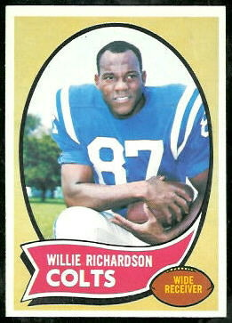 Willie Richardson 1970 Topps football card