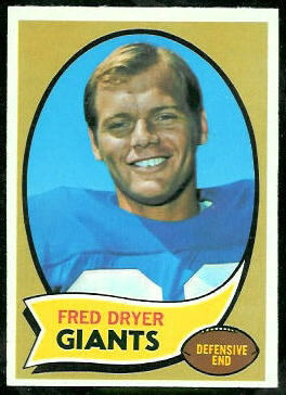 Fred Dryer 1970 Topps football card